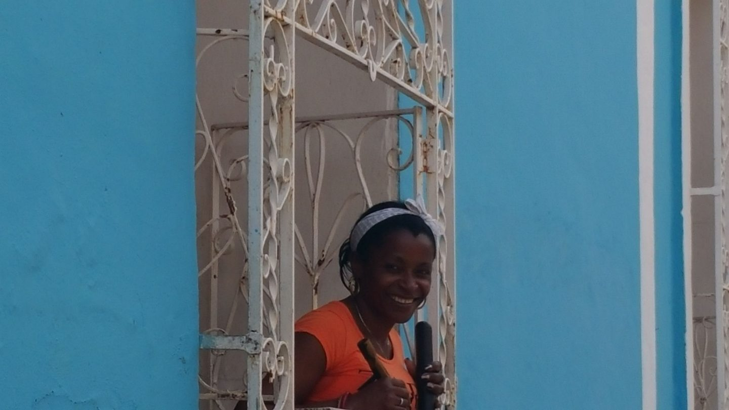 Photo of a young woman in Trinidad, Cuba